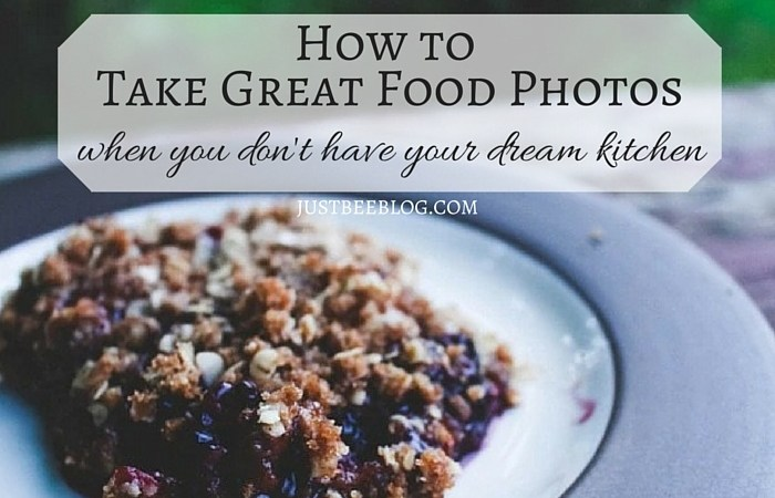 How to Take Great Food Photos (When You Don't Have Your Dream Kitchen)