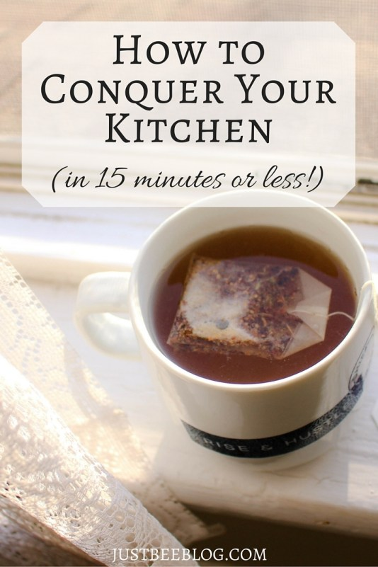 Conquering Your Kitchen in 15 Minutes - Just Bee Blog