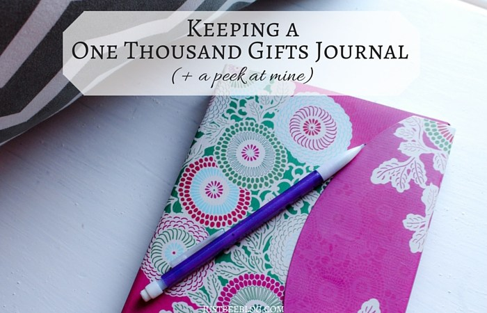 Keeping a One Thousand Gifts Journal (+ a peek at mine)