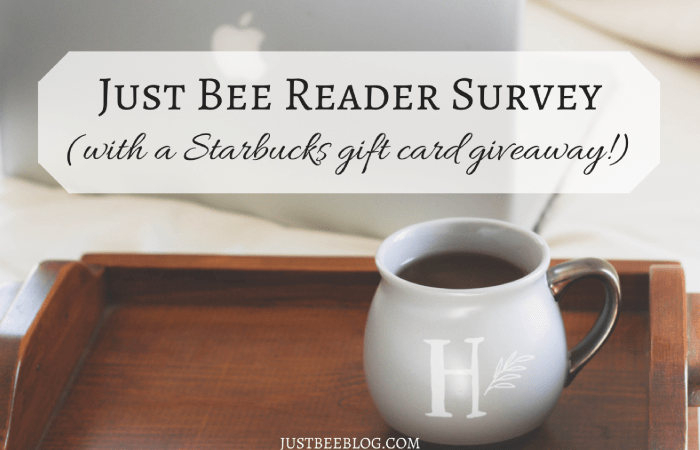 Reader Survey (with a Starbucks gift card giveaway!)