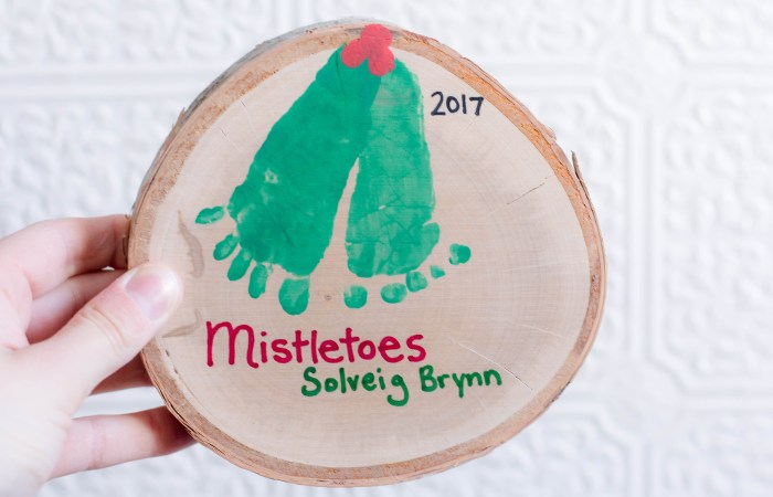 Mistletoes Baby Christmas Craft