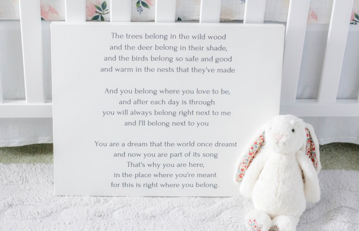 DIY Custom Poem Canvas