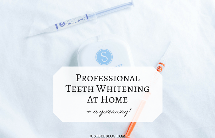 Professional Teeth Whitening At Home (with a giveaway!)
