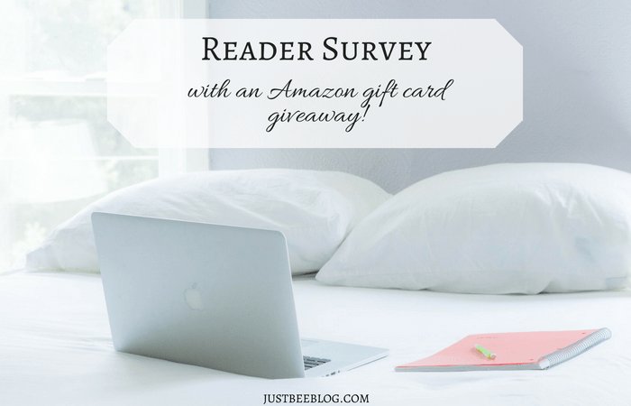 Reader Survey (with an Amazon gift card giveaway!)