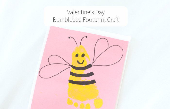 Valentine's Day Bumblebee Footprint Craft