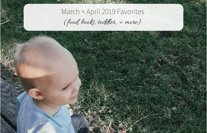 March + April 2019 Favorites (food, books, toddler, + more!)