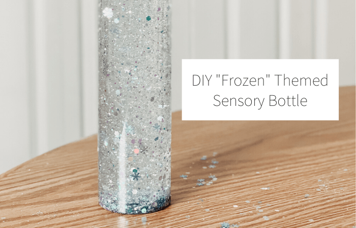 "DIY ""Frozen"" Themed Sensory Bottle"