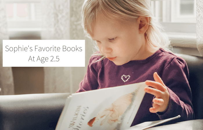 Sophie's Favorite Books at Age 2.5