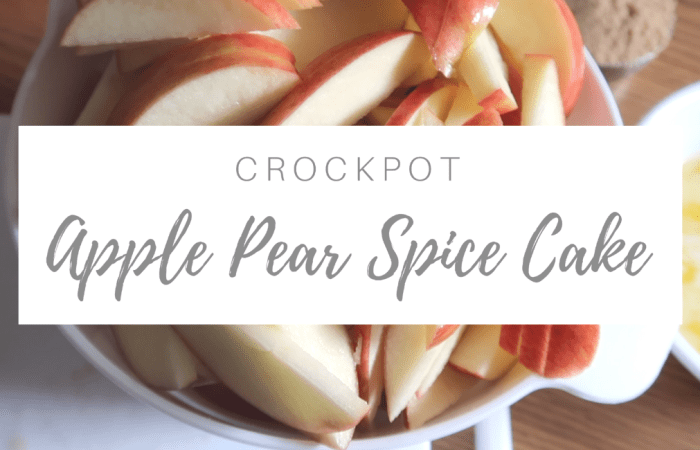 Crockpot Apple Pear Spice Cake