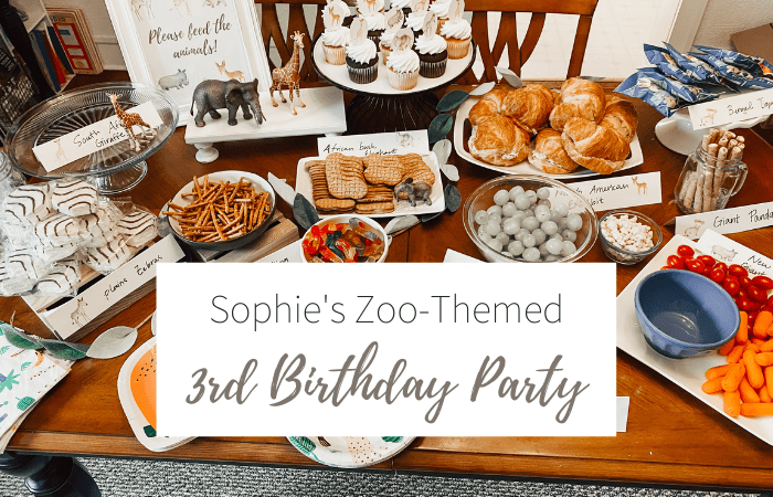 Sophie's Zoo-Themed 3rd Birthday Party