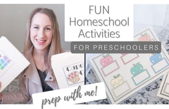 Fun Homeschool Activities for Preschoolers!