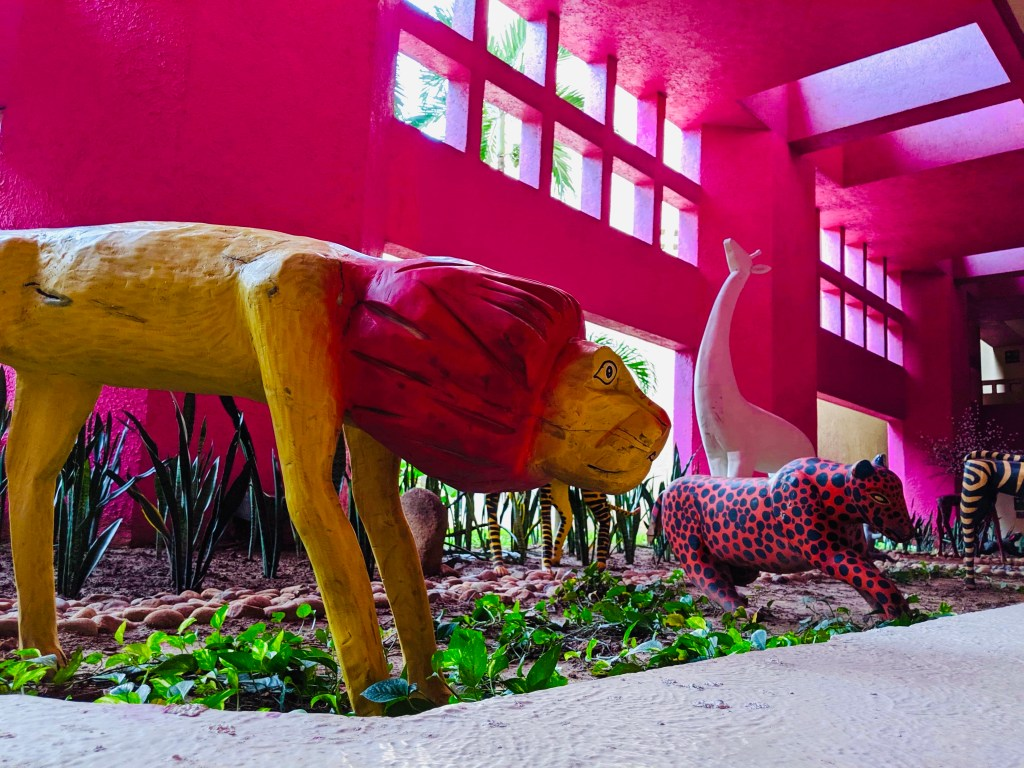 A lion statue at the Westin Puerto Vallarta