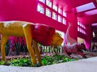 A lion statue at the Westin Puerto Vallarta