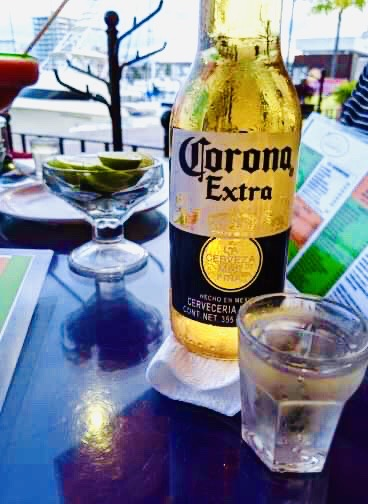 A corona before our dinner arrived. Things that surprised me about Puerto Vallarta.