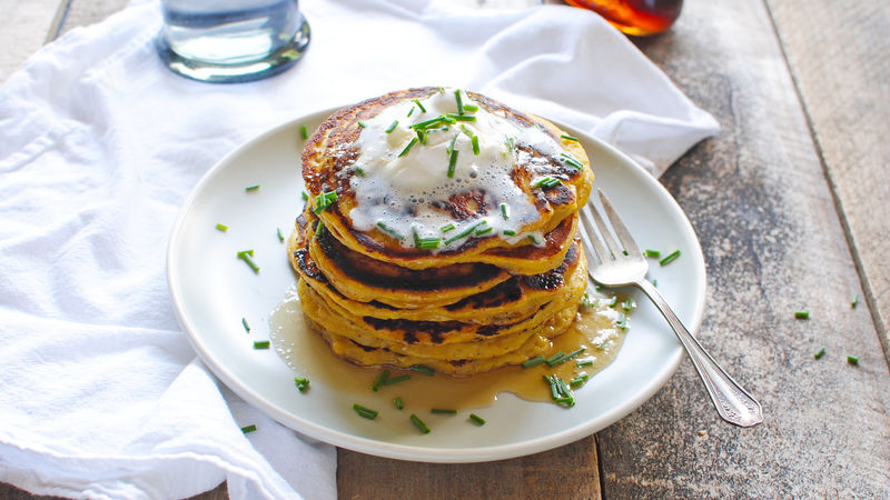 Vegan Pancakes- With Roasted Acorn Squash