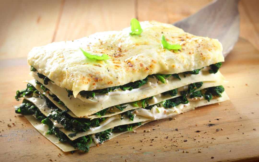Vegan Lasagna with White Bean and Spinich