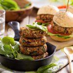 Vegan Burger made with chickpeas