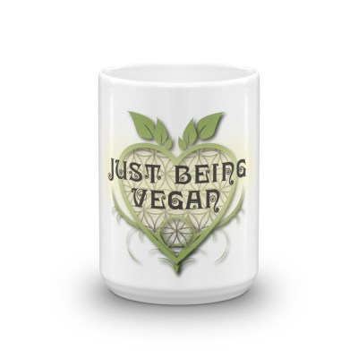 Just Being Vegan-Sacred Heart Logo- Coffee Mug
