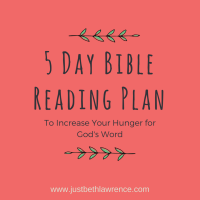 Eat Up: A 5 Day Reading Plan to Increase Your Hunger for God's Word