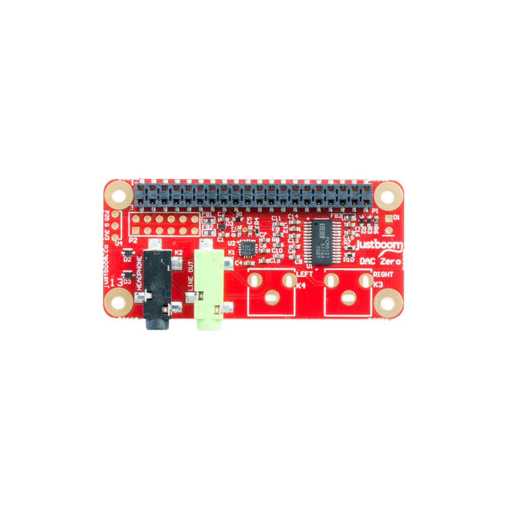 Justboom Dac Zero Phat For Raspberry Pi W A Hiqh Quality Headphone Amplifier Schematic Board
