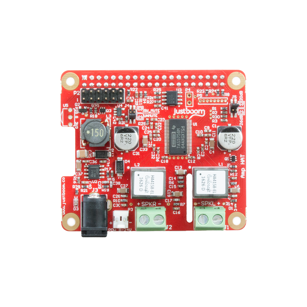 JustBoom Amp HAT for the Raspberry Pi • JustBoom