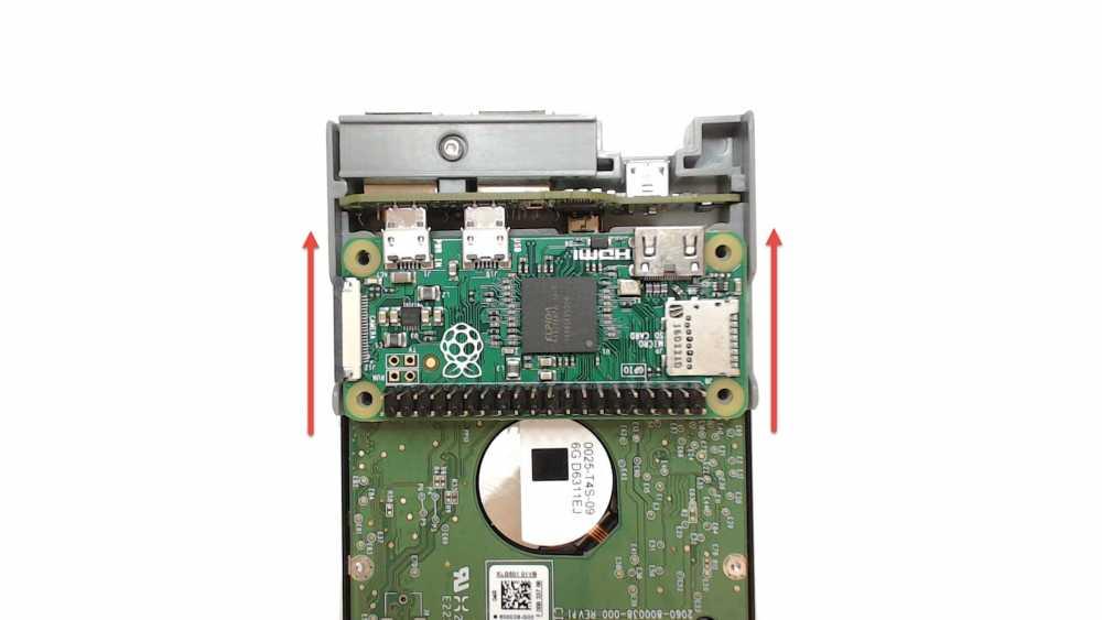 Removing the Pi Zero from the PiDrive Node Zero