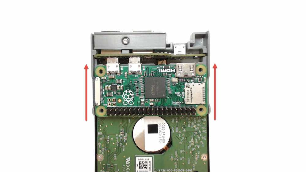 Removing the Pi Zero from the PiDrive Node Zero