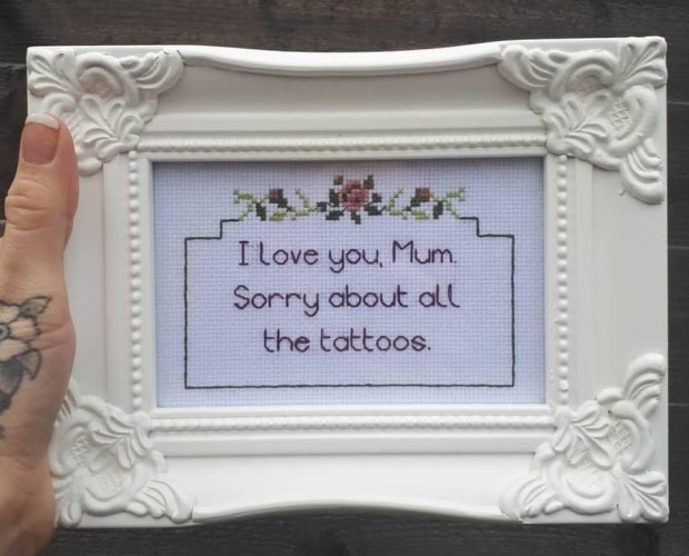 funny cross stitch made in norwich