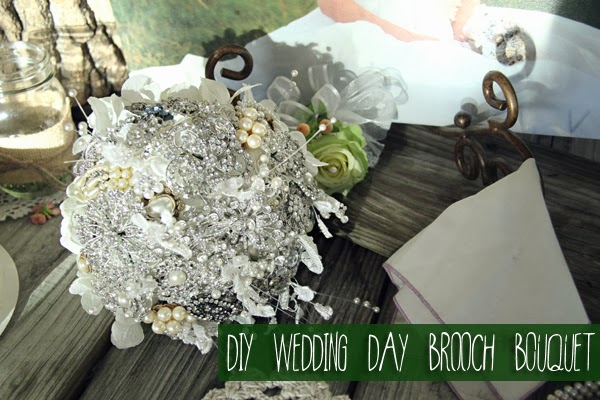 Guest Post: DIY Wedding Day Brooch Bouquet