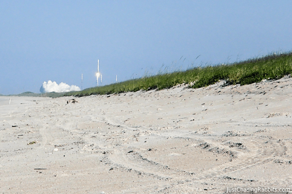 NASA Rocket Launch from Kennedy Space Center in Cape Canaveral, Florida