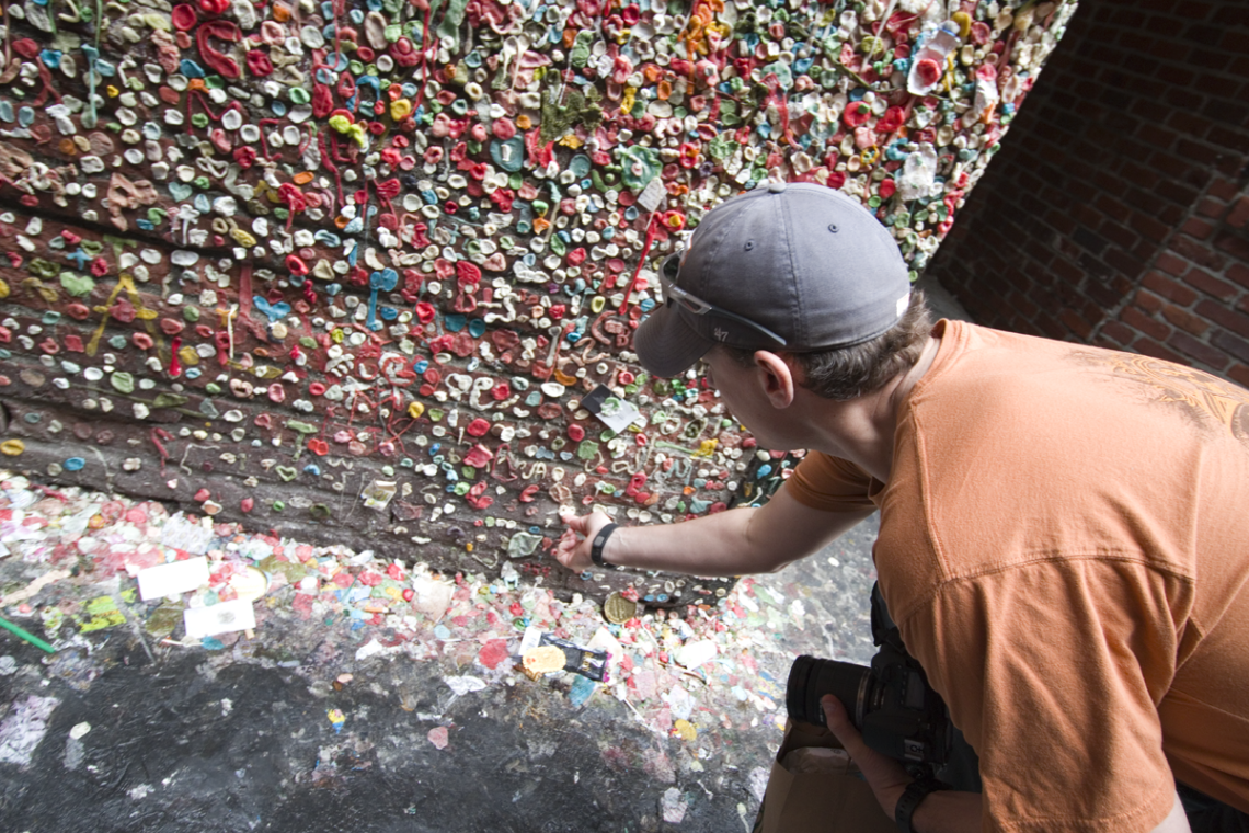Mark at Seattle's Gum Wall