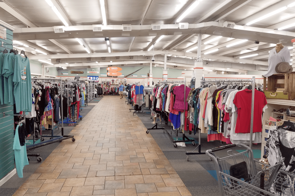 Unclaimed Baggage Clothes Racks