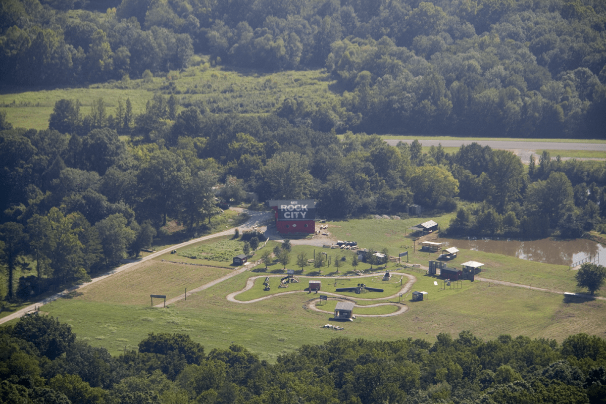 See Rock City Barn as seen from Lover's Leap