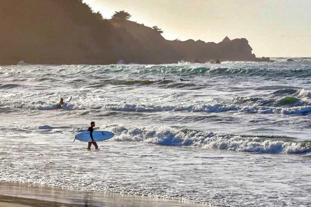 Surfer at Linda Mar Beach