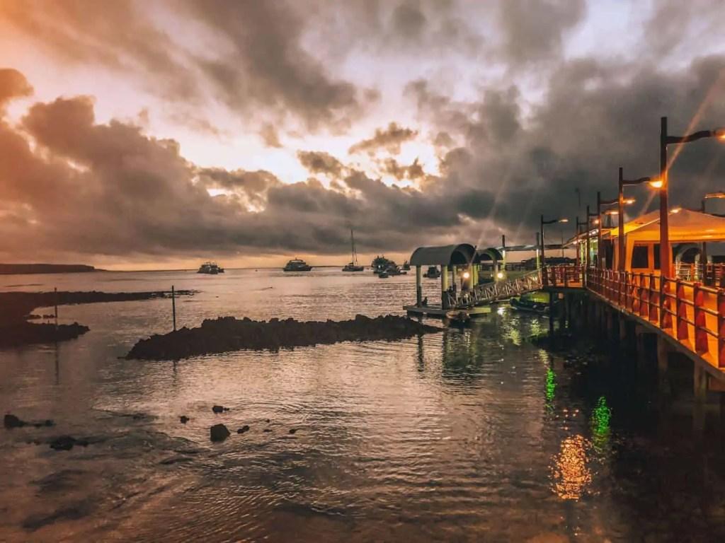 Puerto Ayora Pier at Sunrise