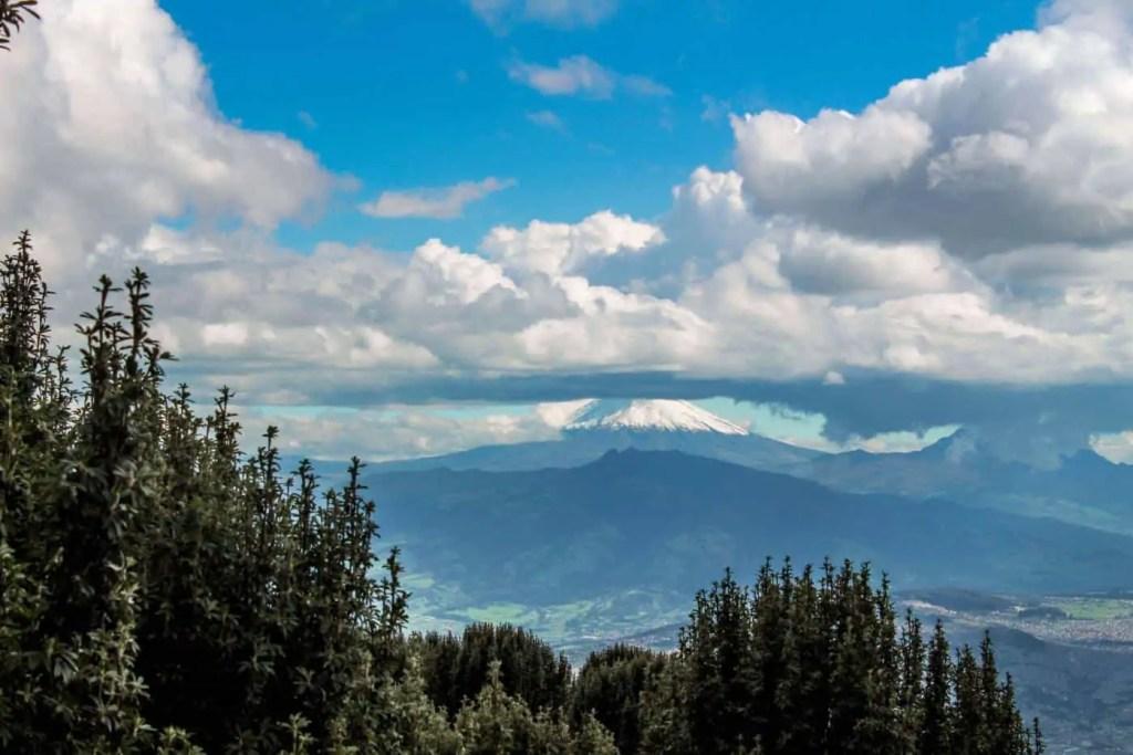 Cotopaxi volcano as seen from Rucu Pichincha