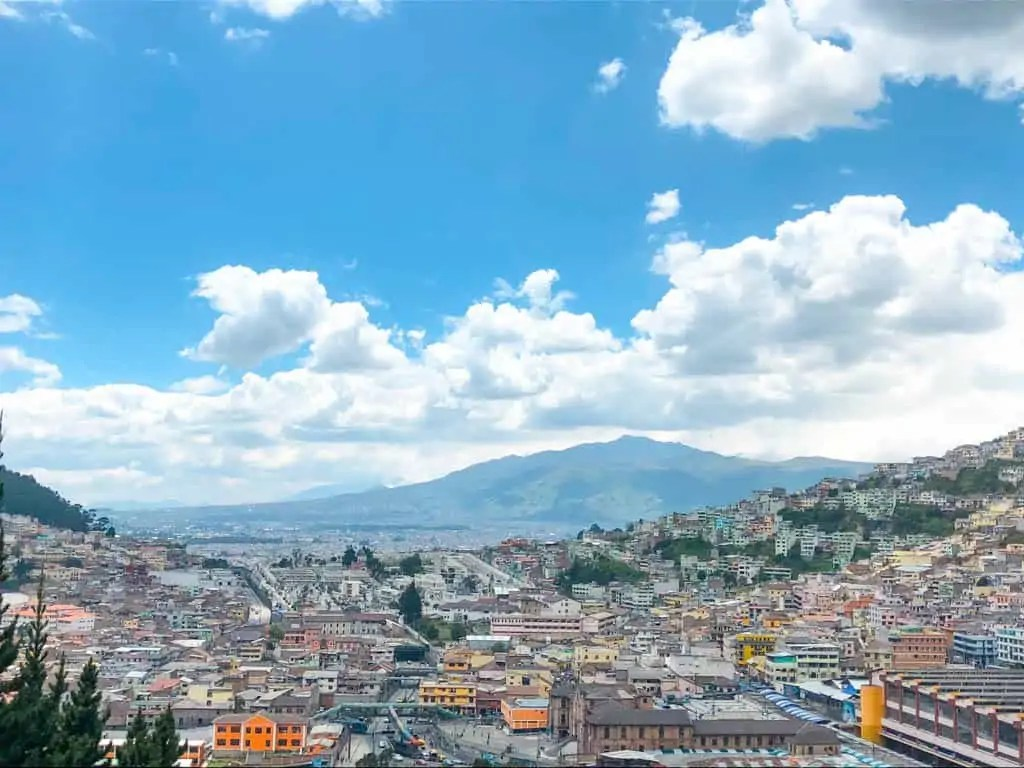 Views of Quito from Yaku