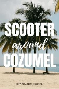 scooter around cozumel