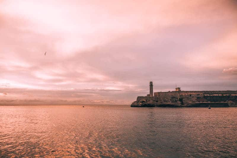 Sunset over the Fort in Havana