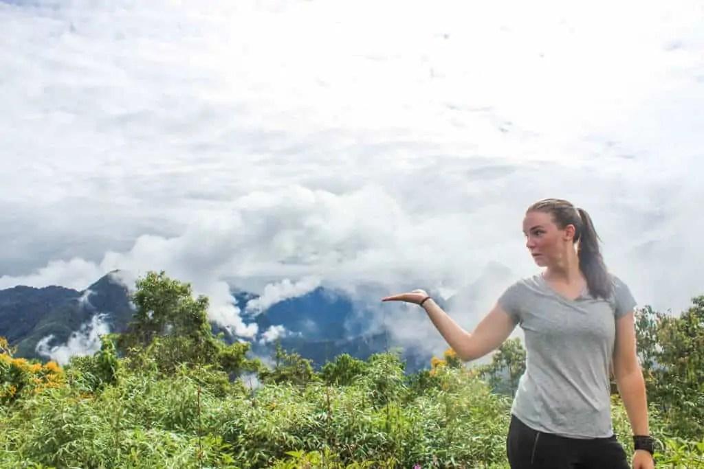 First view of Machu Picchu