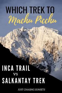 Which trek to Machu Picchu should you choose?