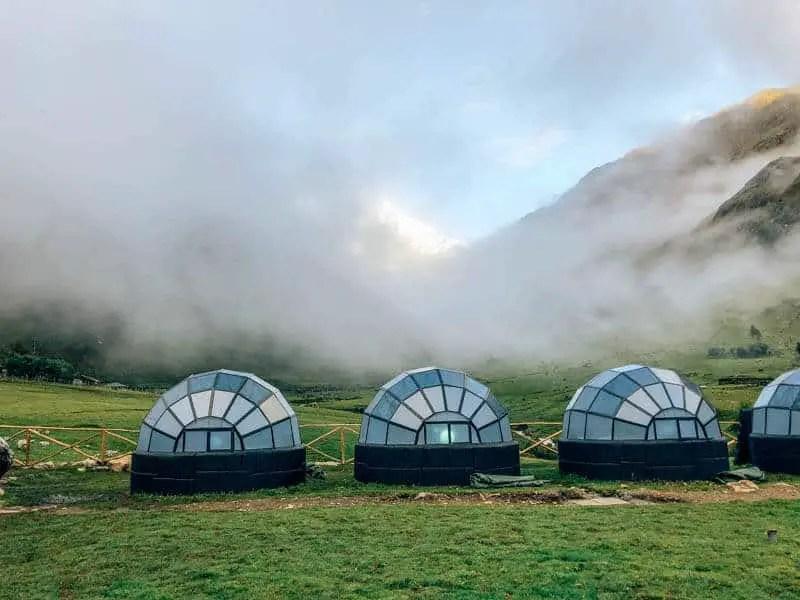 Skydome campsite Machu Picchu