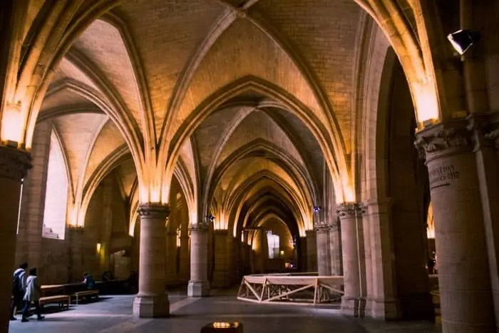 The inside of the Conciergerie a great place to visit with three days in Paris
