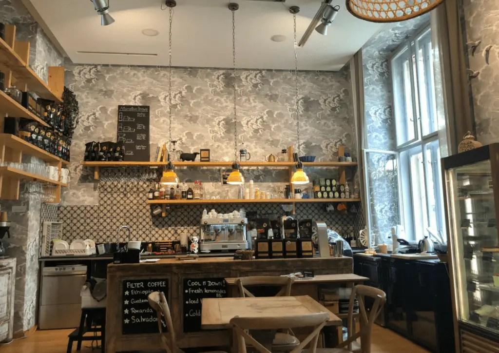 Coffee Counter at La Boheme Cafe in Prague