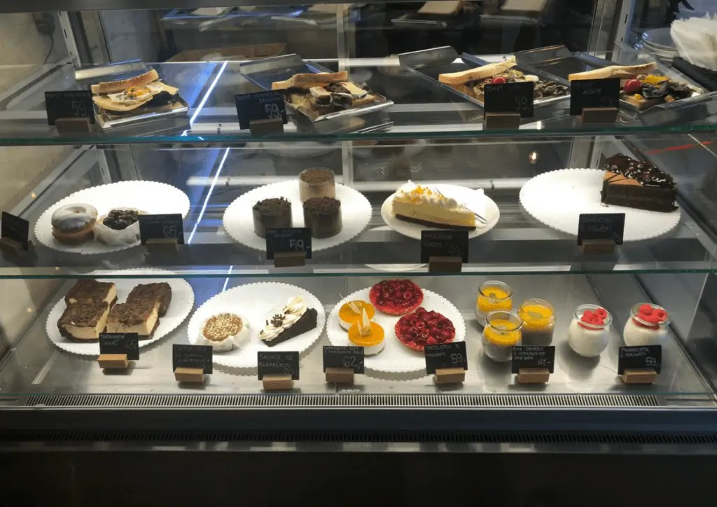 Pastries at SemantaQ Cafe in Prague