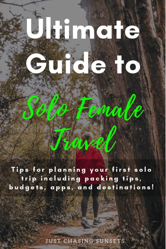 Guide to Solo Female Travel Pin Image