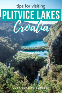 Tips for visiting Plitvice Lakes Croatia