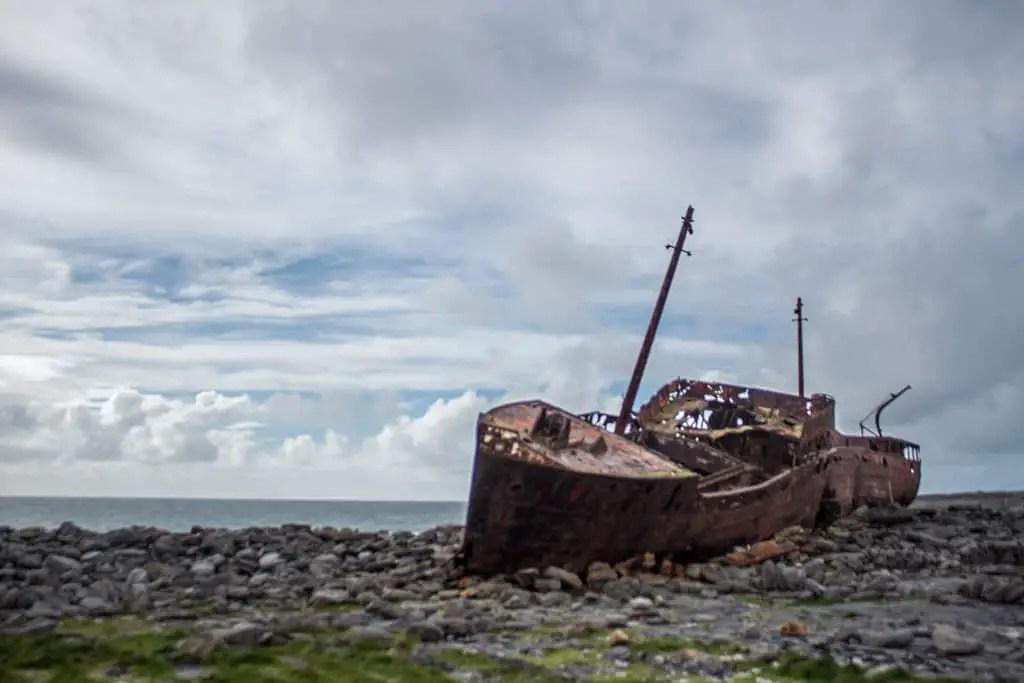 Plassey Shipwreck on Inisheer