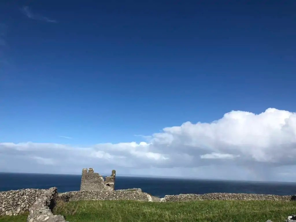 o'brien's castle and a rainbow!