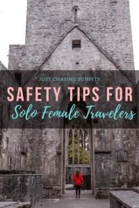 tips for solo female travellers pinterest image